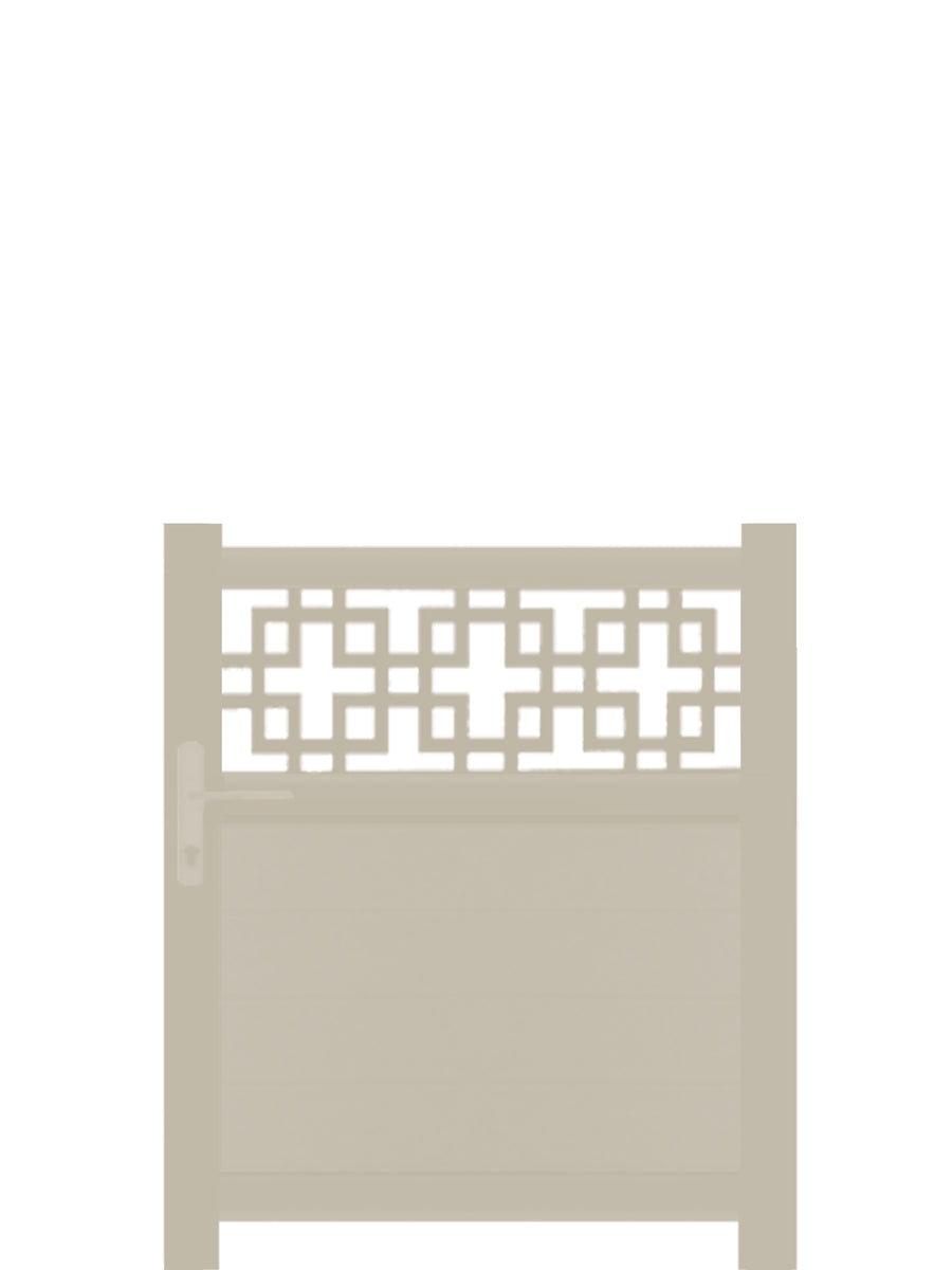 Cubed Trellis Pedestrian Gate - Dove Grey- 3ft height