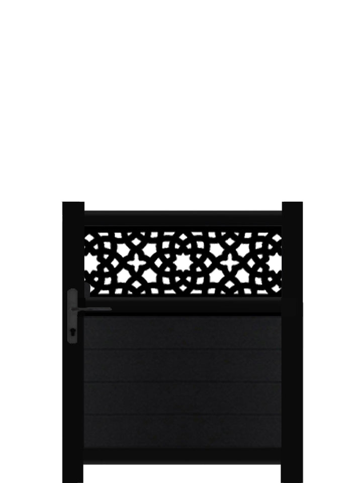Alhambra Trellis Pedestrian Gate - Black - 3ft height