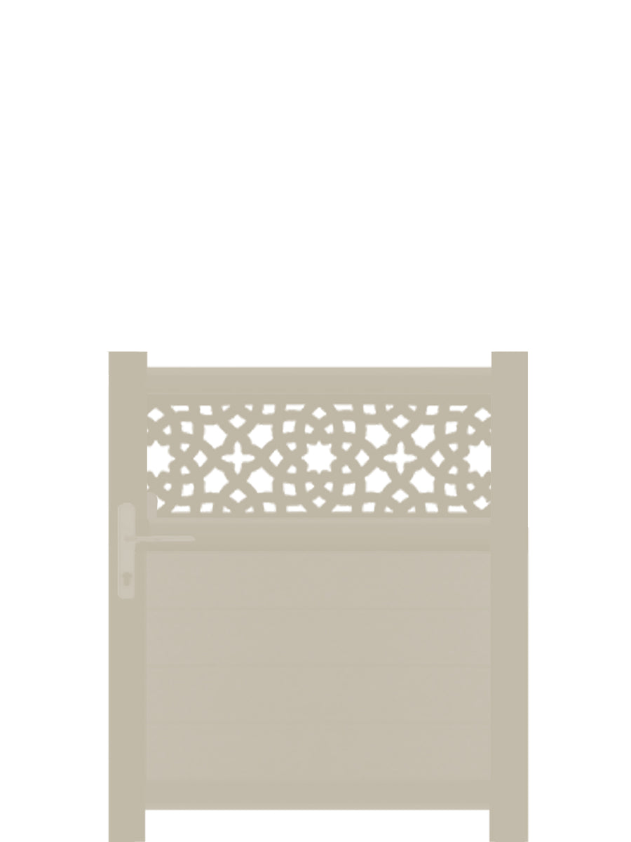 Alhambra Trellis Pedestrian Gate - Cream - 4ft