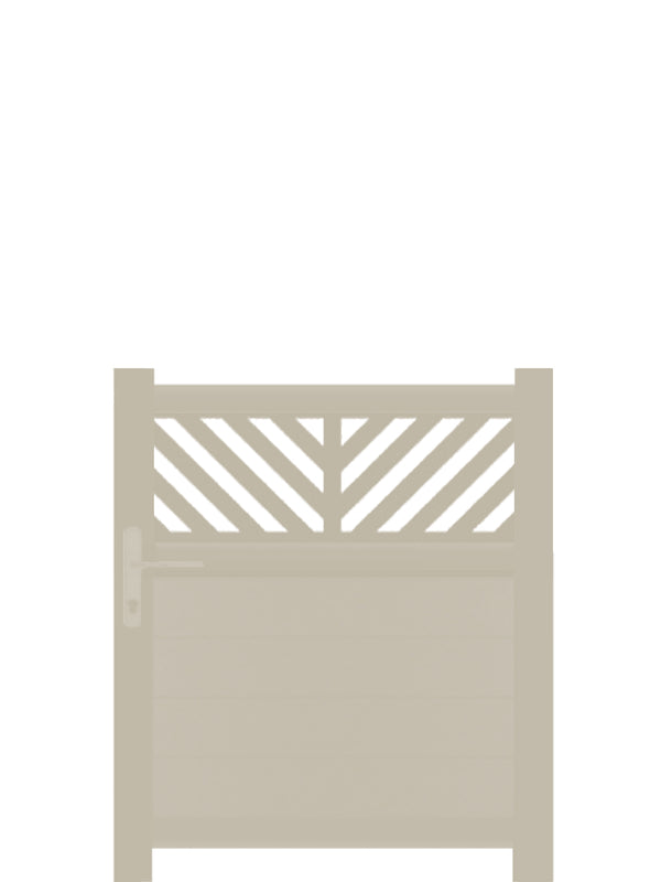 Vector Trellis Pedestrian Gate - Cream - Tall