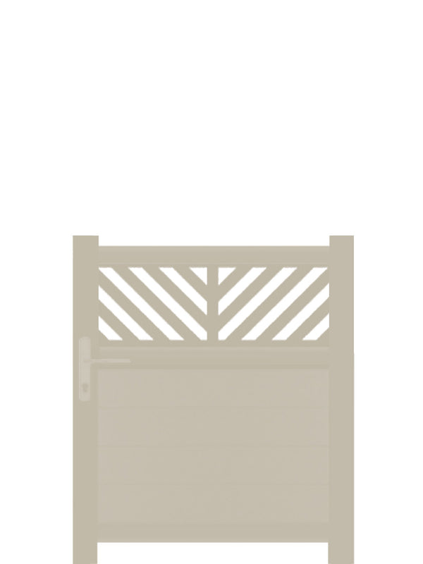 Vector Trellis Pedestrian Gate - Cream - 4ft height