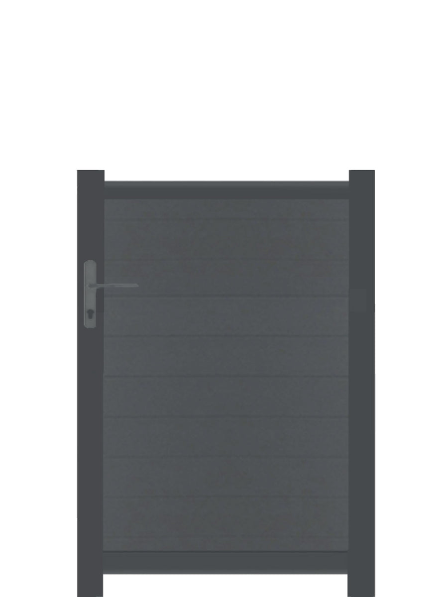 Full Privacy Pedestrian Gate - Anthracite - Tall
