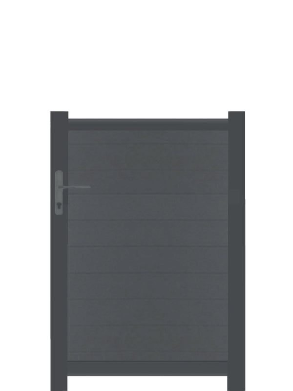 Full Privacy Pedestrian Gate - Black - Tall