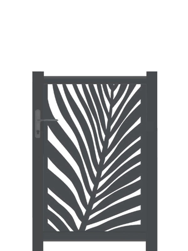 Frond Screen Gate - Black - Tall