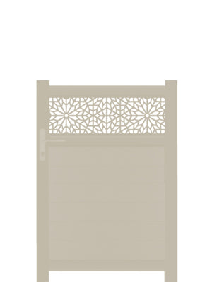 Moucharabiya Trellis Pedestrian Gate - Dove Grey - Tall