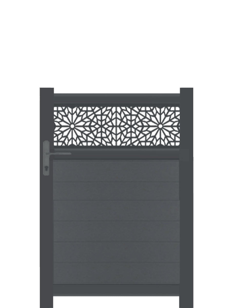 Moucharabiya Trellis Pedestrian Gate - Anthracite - 3ft height