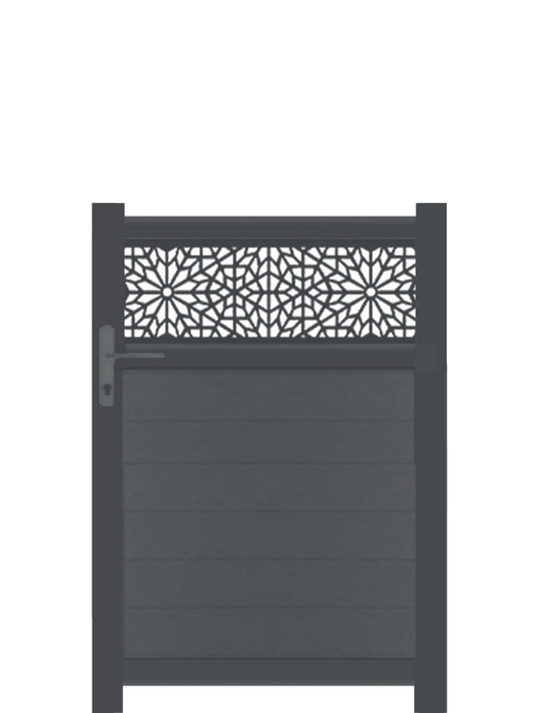 Moucharabiya Trellis Pedestrian Gate - Anthracite - 4ft height