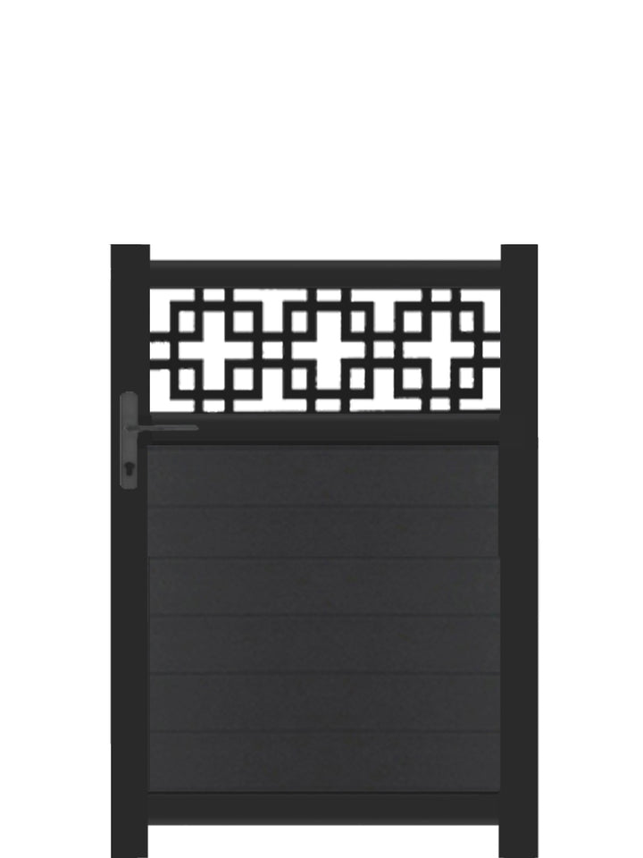 Cubed Trellis Pedestrian Gate - Anthracite - 4ft height