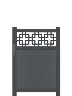 Cubed Trellis Pedestrian Gate - Dove Grey- Tall