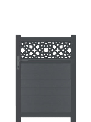 Alhambra Trellis Pedestrian Gate - Dove Grey - 4ft
