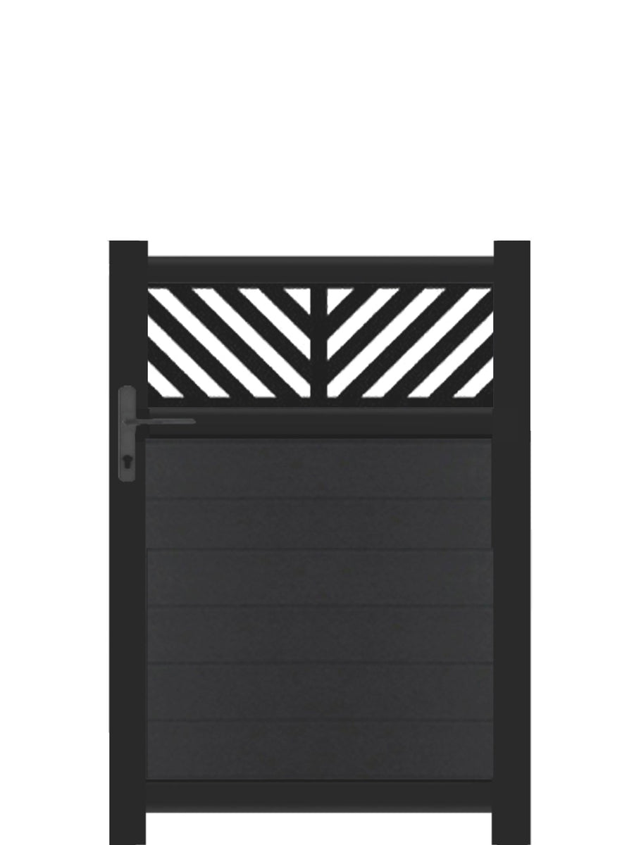 Vector Trellis Pedestrian Gate - Dove Grey - 3ft height
