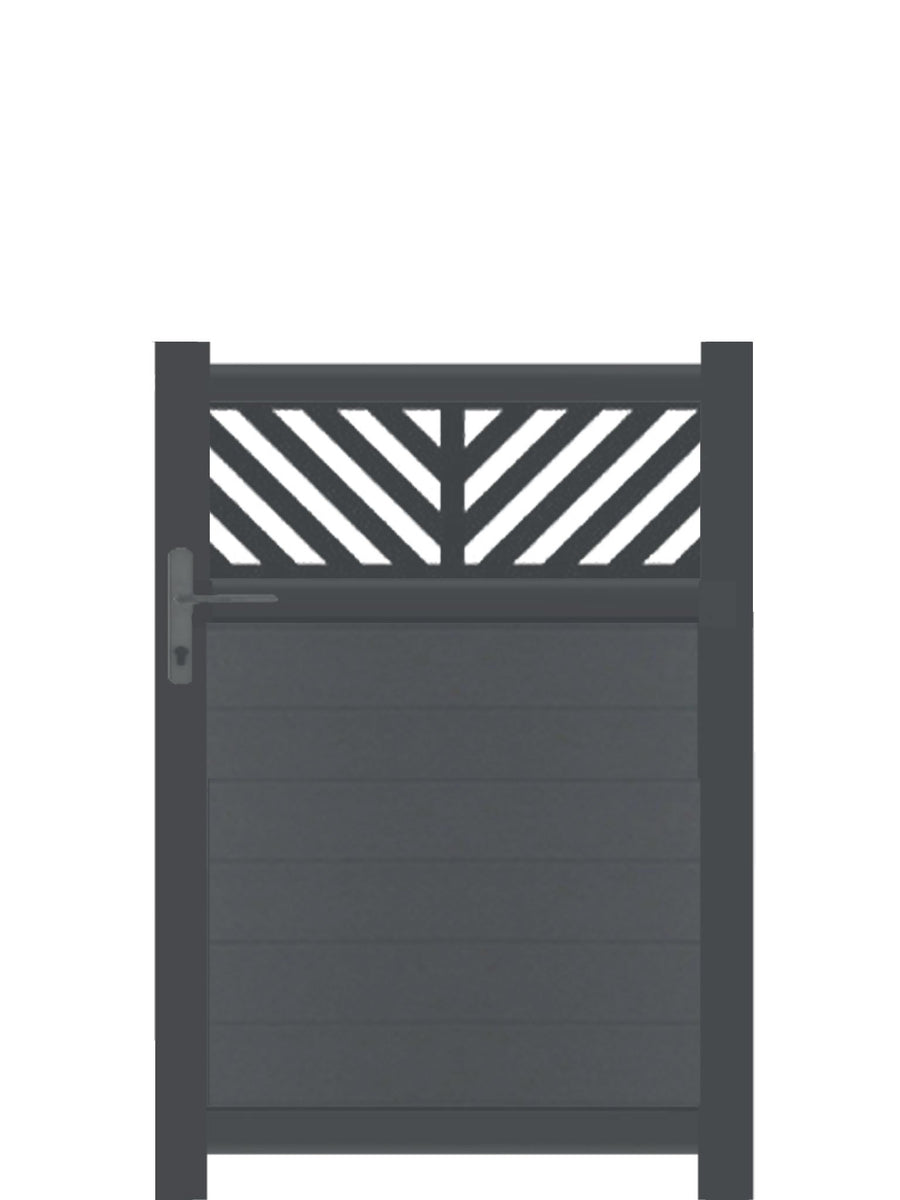 Vector Trellis Pedestrian Gate - Anthracite - Tall