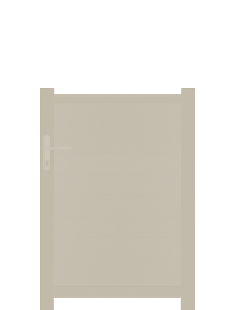Full Privacy Pedestrian Gate - Cream - Tall