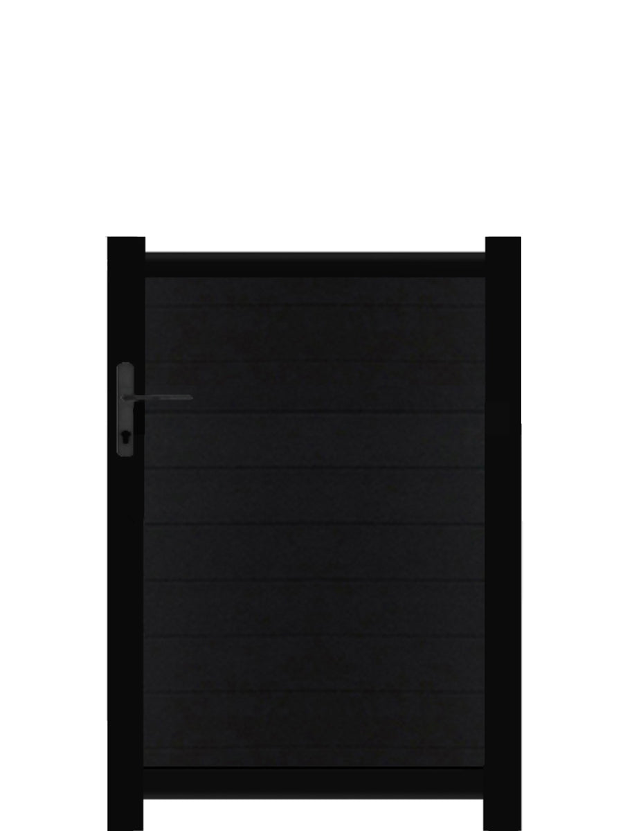 Full Privacy Pedestrian Gate - Black - 3ft height