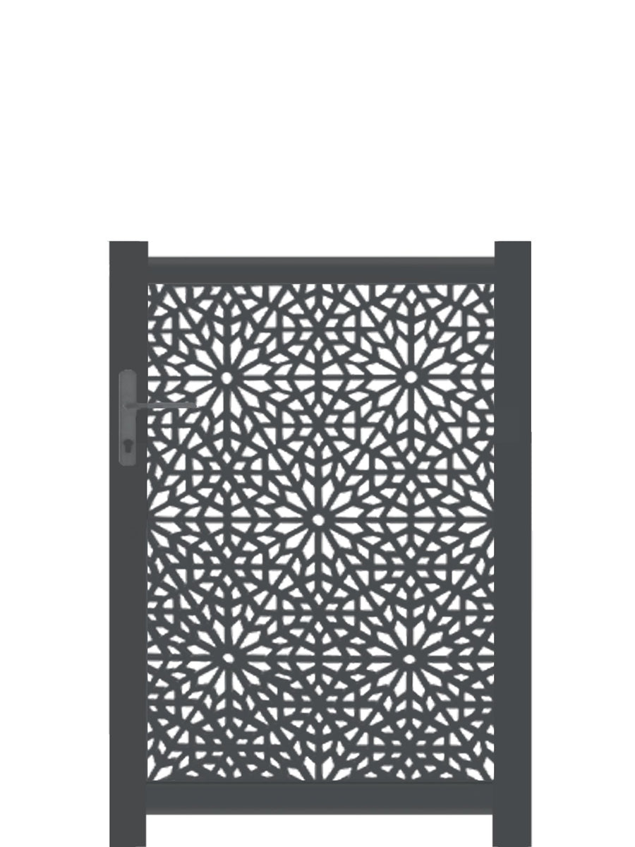 Moucharabiya Screen Gate - Dove Grey - Tall