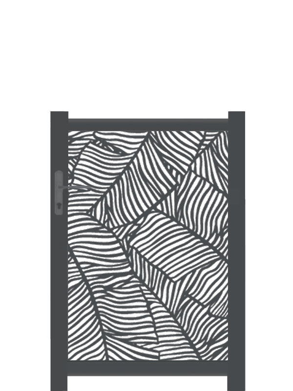 Verdure Screen Gate - Black- 4ft height