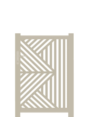 Vector Screen Gate - Cream - 4ft height