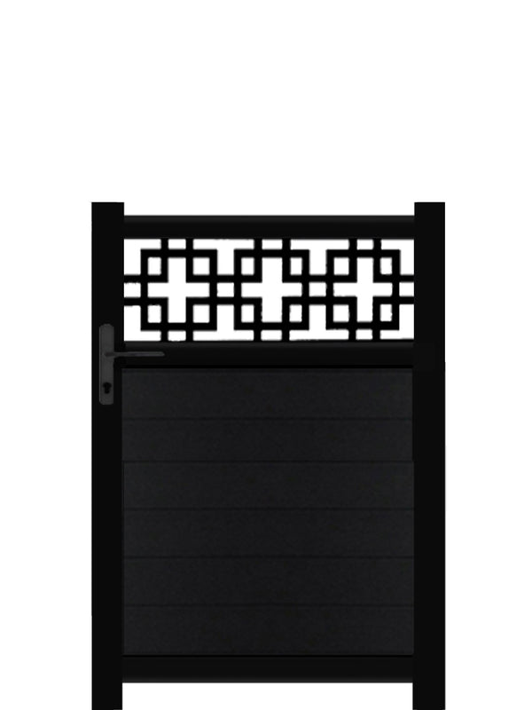 Cubed Trellis Pedestrian Gate - Anthracite - Tall