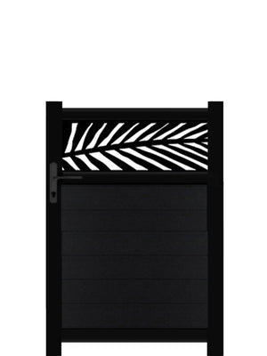 Frond Trellis Pedestrian Gate - Black - 4ft height