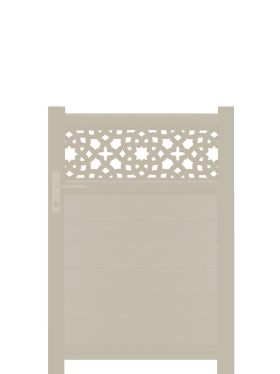 Alhambra Trellis Pedestrian Gate - Dove Grey - 3ft height