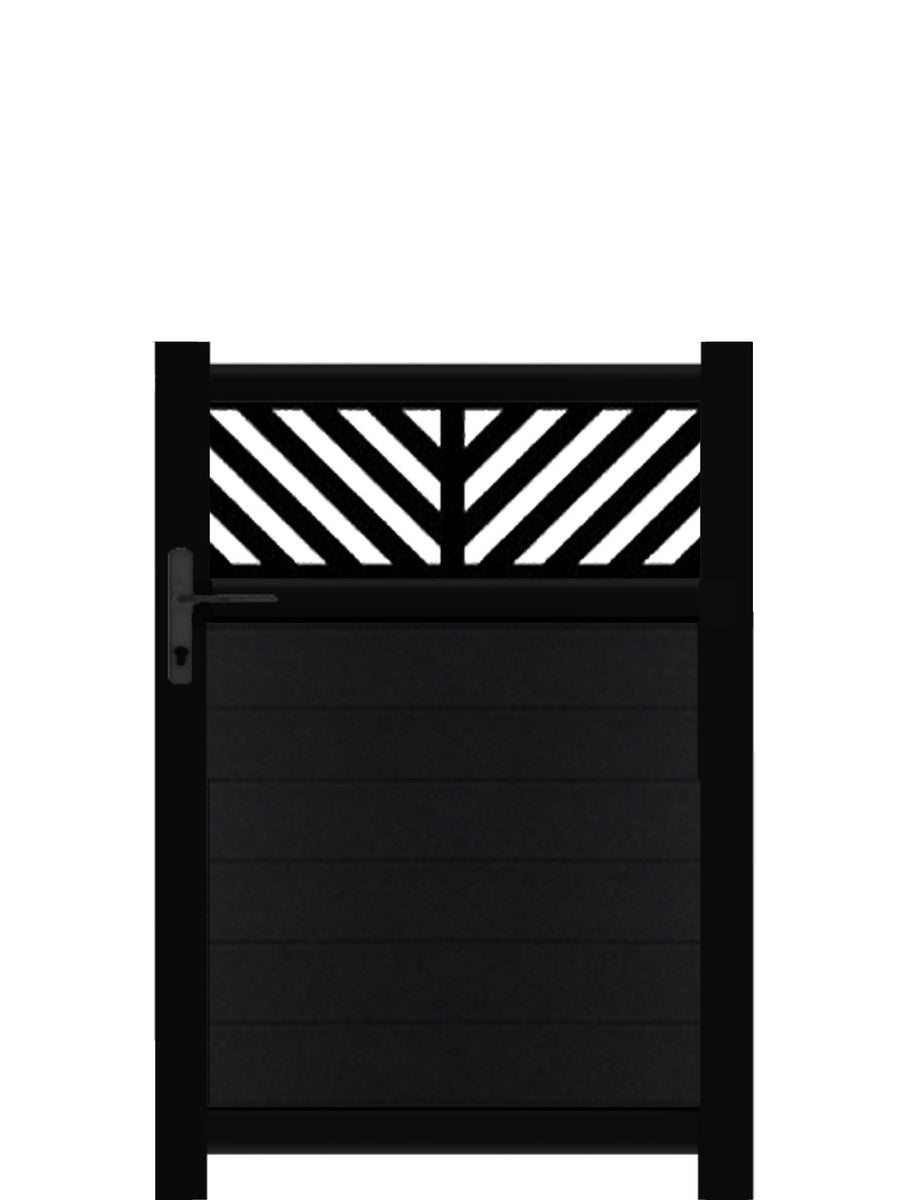 Vector Trellis Pedestrian Gate - Black - 4ft height