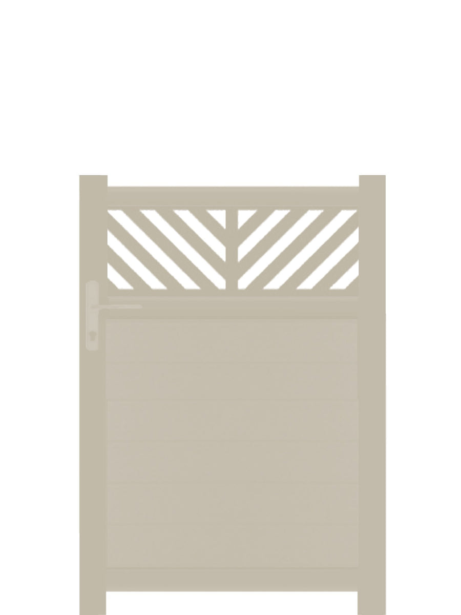 Vector Trellis Pedestrian Gate - Cream - 3ft height