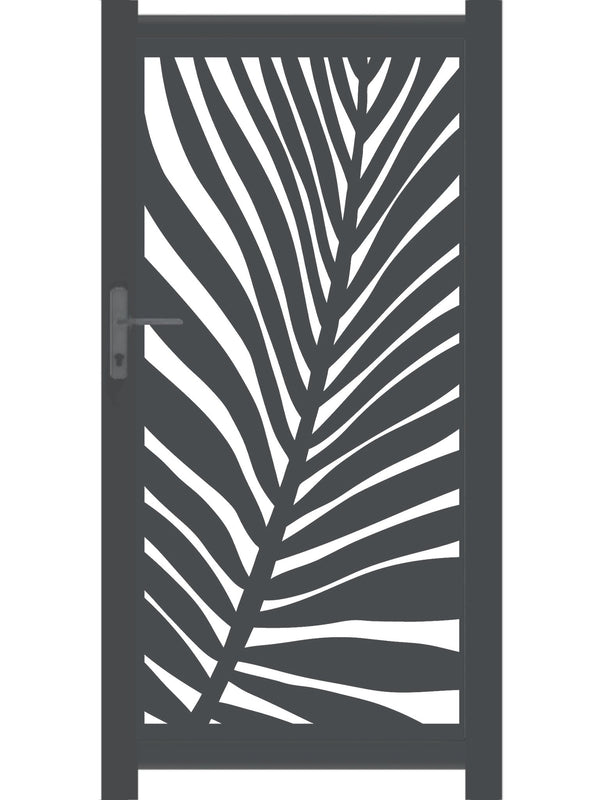 Frond Screen Gate - Cream- Tall