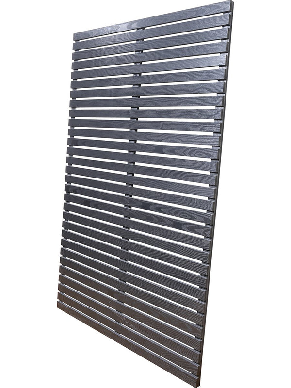 45mm slat panels 6ft x 3ft in black wood composite by Screen With Envy
