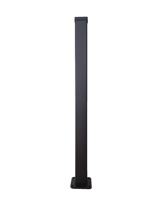 4ft High Post - Black