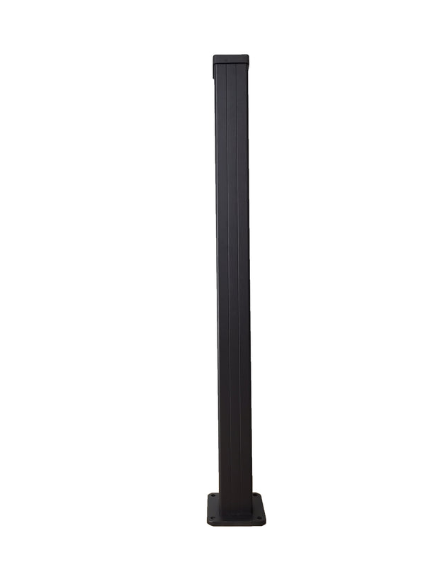 Extra Tall 7ft Tall Corner Post - Black