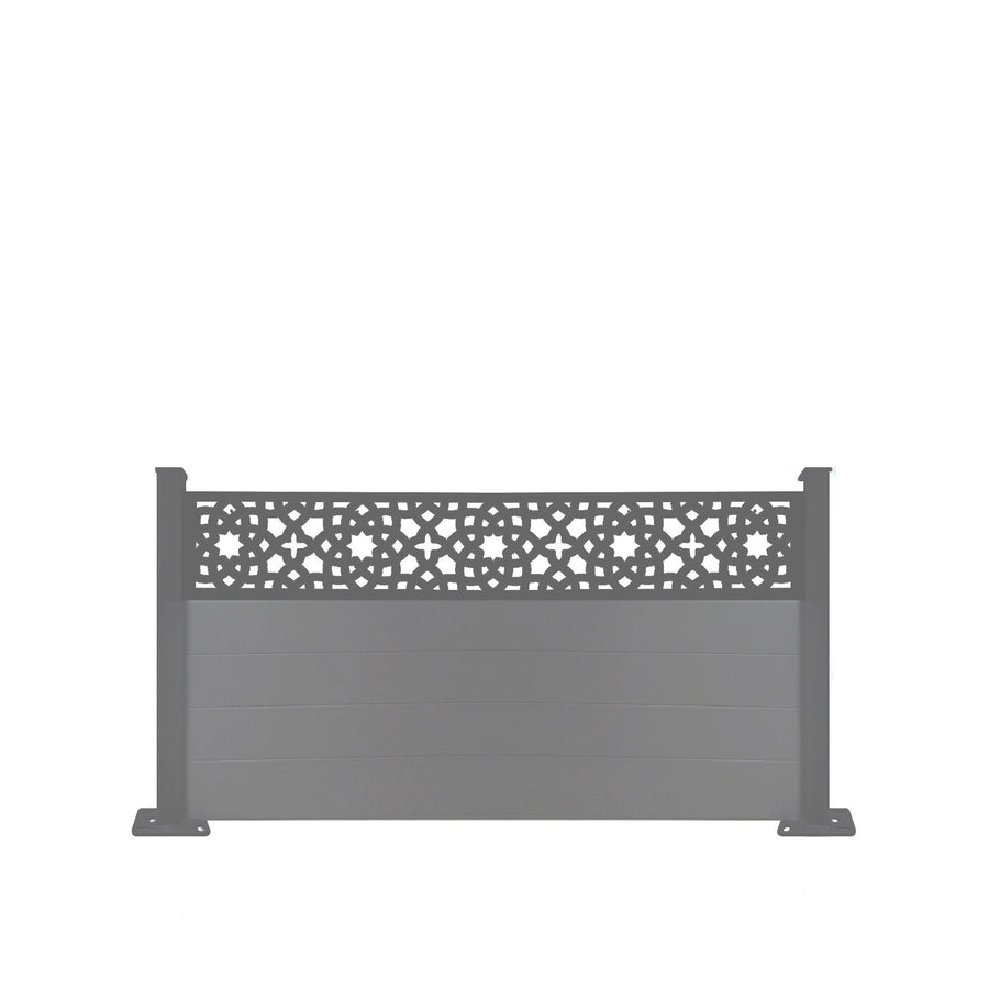 Alhambra Fence - Anthracite Grey - 4ft Tall