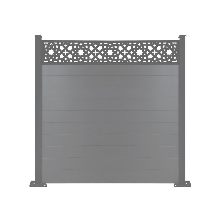 Alhambra Fence - Anthracite Grey - 7ft Extra Tall