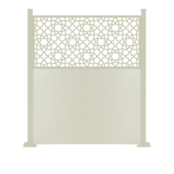 Alhambra Screen Fence - Cream - 7ft