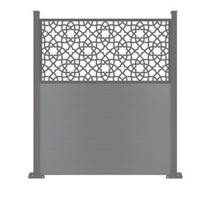 Alhambra Screen Fence - Dove Grey - 6ft