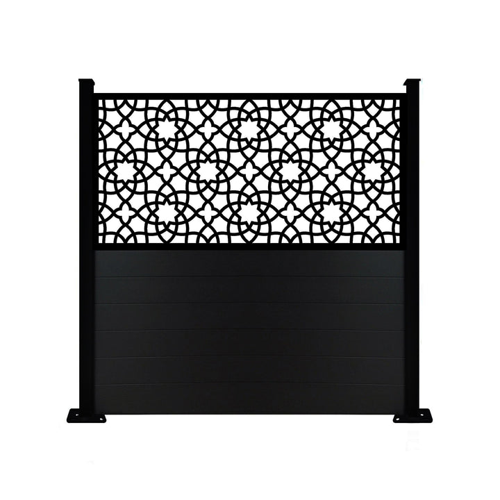 Alhambra Screen Fence - Black - 6ft