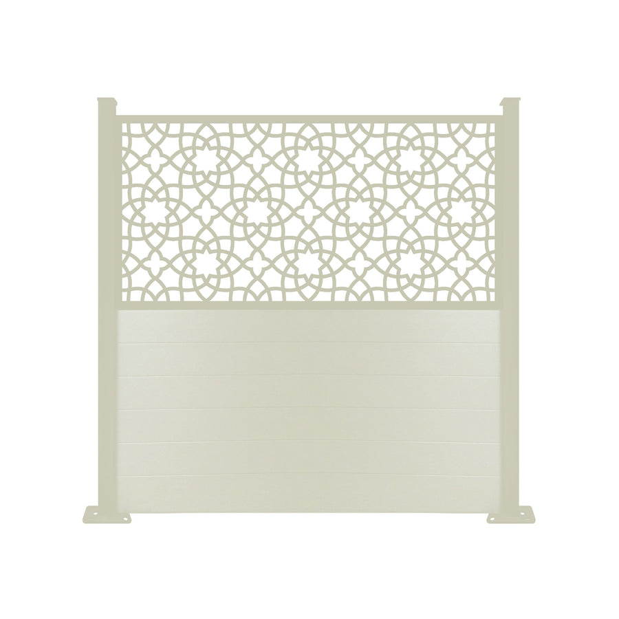 Alhambra Screen Fence - Cream - 6ft