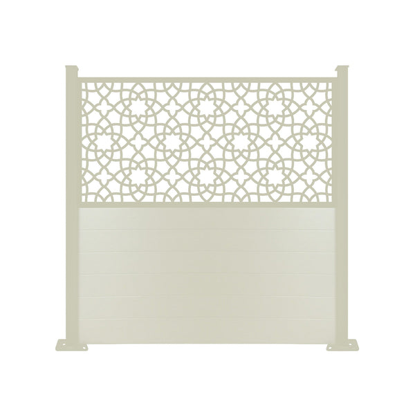 Alhambra Screen Fence - Dove Grey - 7ft