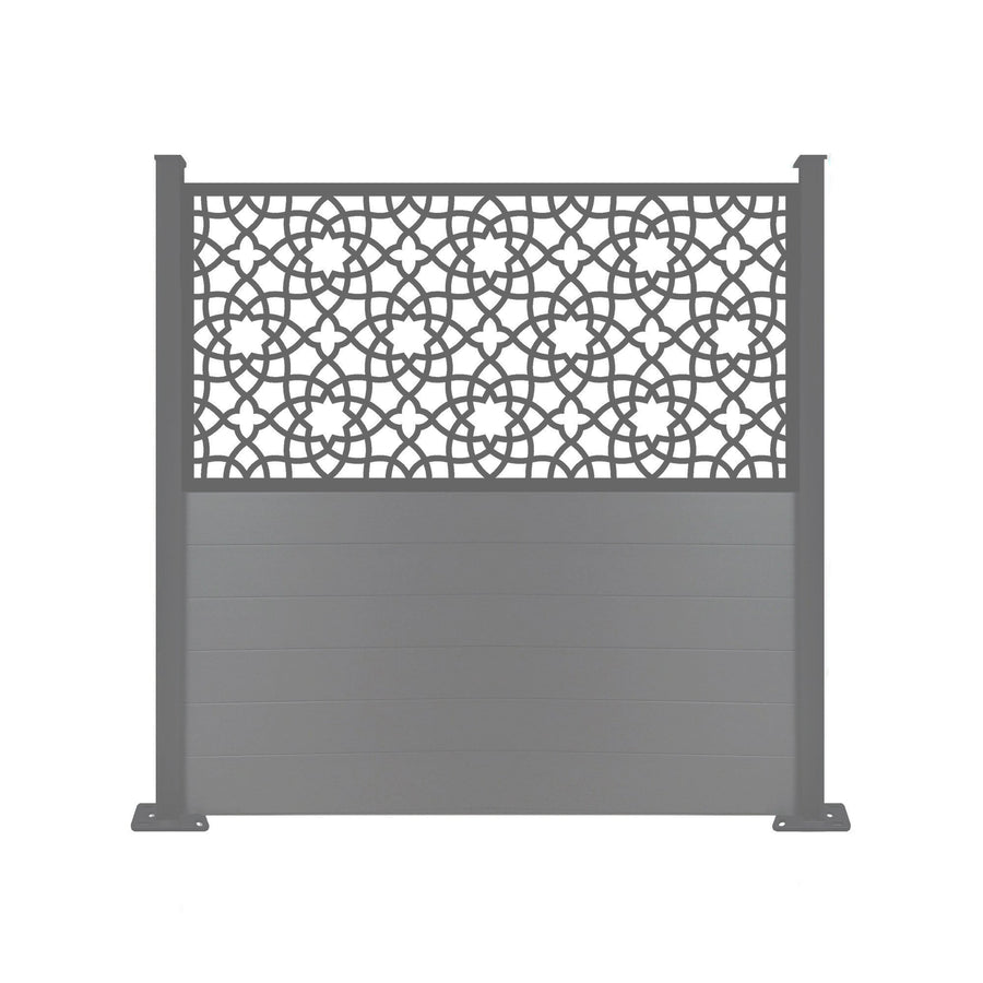 Alhambra Anthracite Screen Fence - 7ft