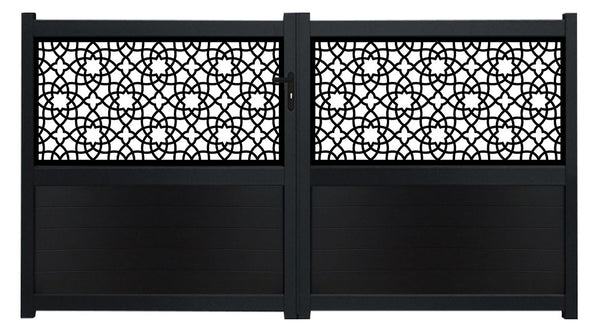Alhambra Screen Sliding Driveway Gate - Dove Grey