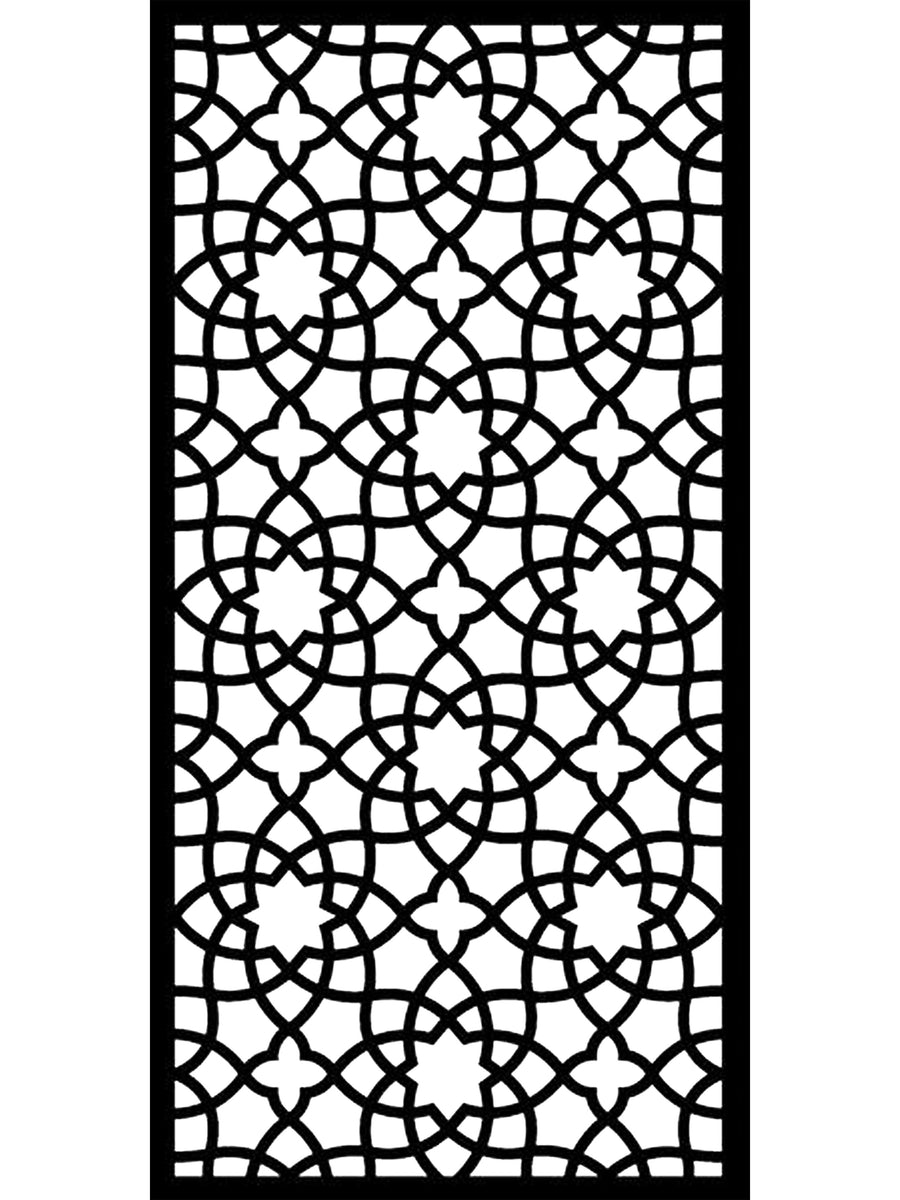 Black Alhambra large geometric screen by Screen With Envy