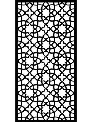large Alhambra composite black designer garden screen by Screen With Envy