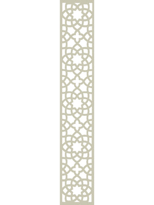 Cream geometric Alhambra trellis by Screen With Envy