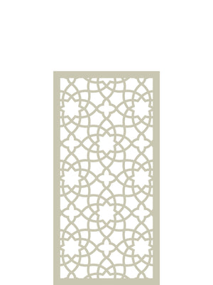 Waterproof stylish designer Alhambra cream garden screen by Screen With Envy