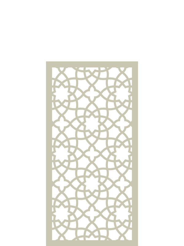 Cream geometric Alhabrama screen by Screen With Envy