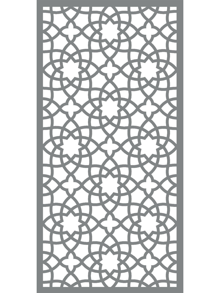 Alhambra Garden Screen - Dove Grey - 6ft x 3ft