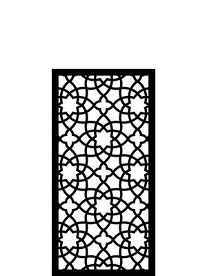 Weatherproof Alhambra style garden panel trellis by Screen With Envy