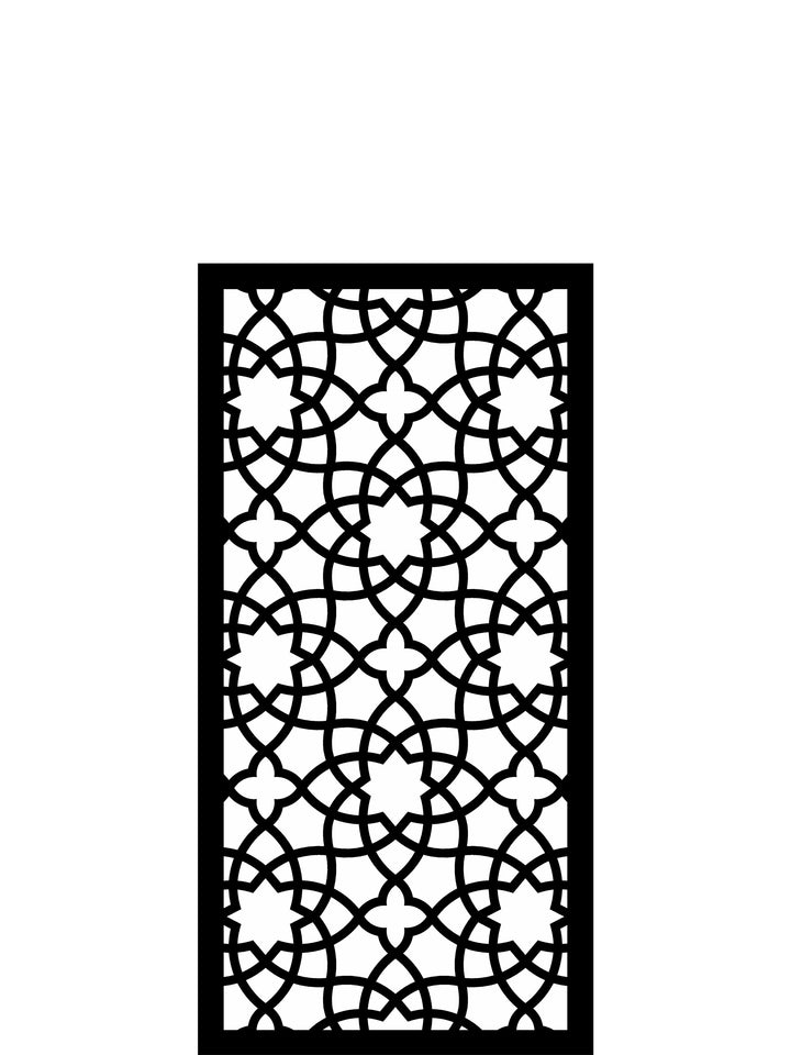 Stylish black Alhambra garden wall art screen by Screen With Envy
