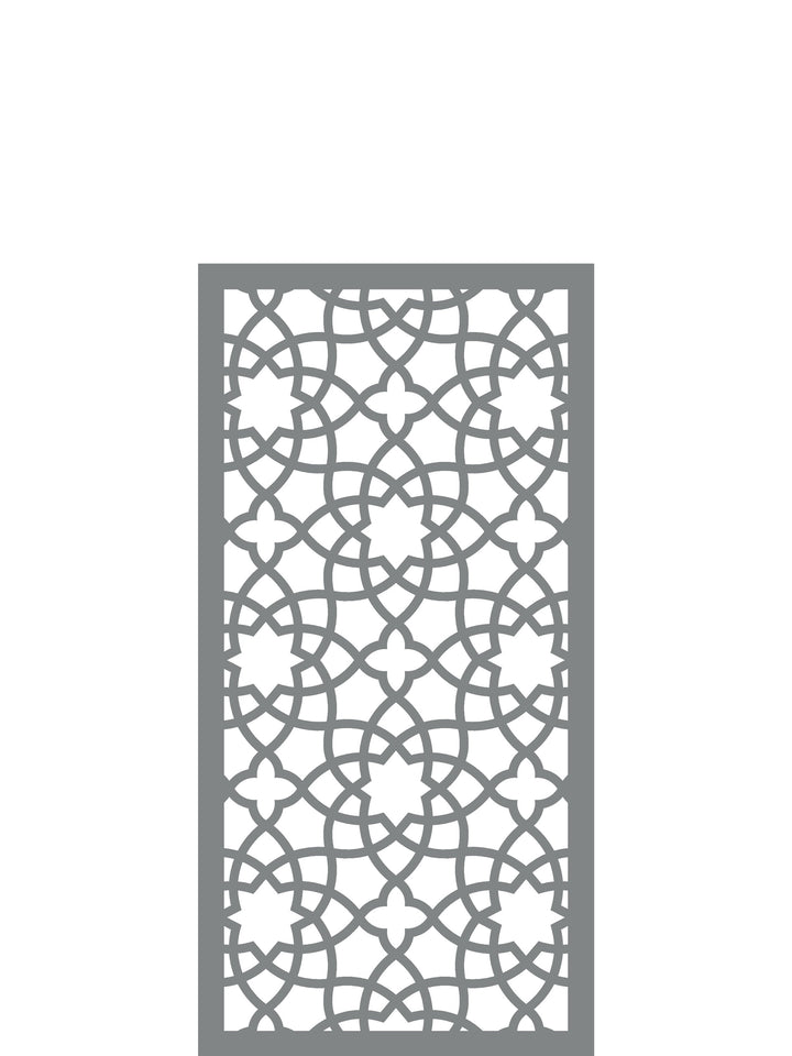 Alhambra Medium Garden Screen - Dove Grey - 4ft x 2ft