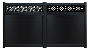 Alhambra Trellis Driveway Gate - Anthracite