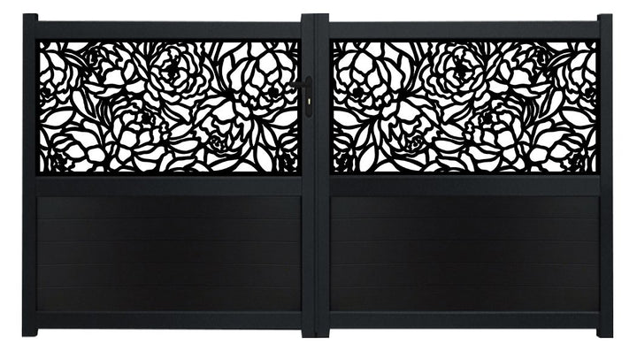Bloom Screen Driveway Gate - Black